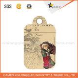 Бирка Hang печатание оптового изготовленный на заказ рождества дешевая