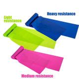 Faixa Eco-Friendly da ioga da faixa da resistência do látex