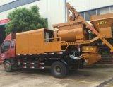 Camion della pompa idraulica e della betoniera