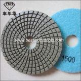 Almofada flexível de mármore da resina da almofada de polonês do granito Wd-13