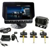 Système d'appareil-photo de vue arrière de camion avec les détecteurs internes de pression de pneu
