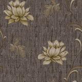 Papel pintado impermeable del vinilo con la flor realzada