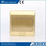 Materiële het messing duikt Afzet van de Contactdozen van de Vloer van het Metaal de Elektrische 16A 250V op