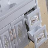 Salle de bains moderne Vanity de PVC de Type Wall Mounted avec Side Cabinet