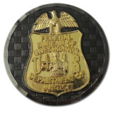 Подгонянное Eagle Nypd Coin с Rope Edge (HST-SCS-110)