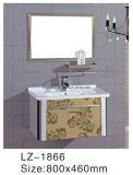 Module de salle de bains fixé au mur d'acier inoxydable