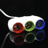 3 in 1 USB-Portauto-Montierungs-Adapter-Telefon-Zubehör-Aufladeeinheits-Kontaktbuchse