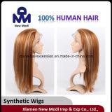 Perruque synthétique de cheveux de pleine perruque de lacet de perruque de cheveux