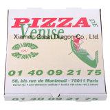 Weiß außen und natürlicher/Kraftpapier-Innenpizza-Kasten (CCB122)