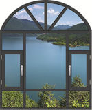 مهنة تصميم ألومنيوم شباك نافذة مع زجاج ثابت