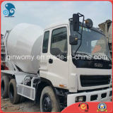 Maximum-25ton 6*4-LHD-Diesel-Steering geen-mechanisch-Fout beschikbaar-AC/de 10cyinders-10PE1-motor van de Cabine de Isuzu Gebruikte Vrachtwagen van de Concrete Mixer