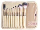 Brosse de lecture professionnelle essentielle de maquillage des kits 10PCS avec le sac cosmétique