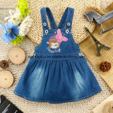 Form-Drucken-Baby-reizendes Denim-Jeans-Kleid-Kind-Kleid
