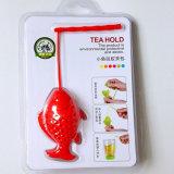 Riempitori della calza di Infuser del tè allentato del silicone dei pesci dell'oro della novità grandi
