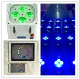 LEIDENE DMX Op batterijen van de Telefoon van WiFi Slimme Draadloze Lichten 4*18W RGBWA UV