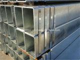 Pipa rectangular galvanizada sumergida caliente
