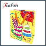 Le joyeux anniversaire de modèle doux personnalisent le sac de papier au détail de sucrerie de logo