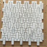 Мозаика Bianco Carrara белая мраморный для стены ванной комнаты