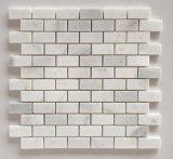 Natürliches weißes Marmorminiziegelstein-Steinmosaik