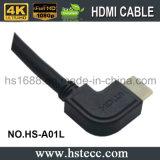 Couleur noire à angles gauche 1080P TVHD du câble 20m de HDMI