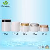 アイシャドウのための60mlプラスチック装飾的な容器によって曇らされるクリーム色の瓶