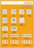 Interruttore chiaro di stile della parete europea della Cina (F2002)