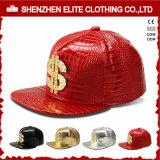 Бейсбольная кепка кожи логоса Hip людей хмеля изготовленный на заказ