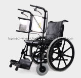 Rehabilitation medico Wheelchir Manual Stand su Wheelchair per Paralysis Patient