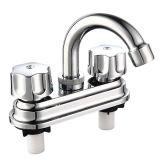 Faucet do banheiro do punho do dobro de 4 polegadas (plataforma montada)