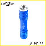 알루미늄 합금 재충전용 크리 사람 XP-E LED 방수 Zoomable 토치 (NK-1862)