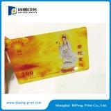 Impresión personalizada de la tarjeta del PVC del diseño