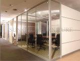 Vidrio doble con pared de partición de la oficina de madera del obturador la alta (SZ-WST735)