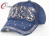 Rhinestone джинсовой ткани бейсбольной кепки способа