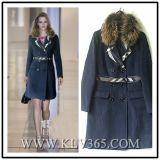 高品質のデザイナーブランドの洋服の女性の冬のミンクの毛皮カラー長いコート