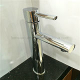 Round Brass Chrome Singel Lever Basin Faucet Sanitary Wares (HD4600)
