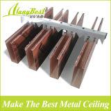 Sistema de techo de metal Madera Look deflector para requisitos particulares Tamaño de Corredor