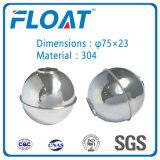 [En stock] Stainless Steel Ball Ball Float magnétique pour le niveau de l'eau Commutateur flottant (75mm * 23mm)