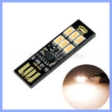 Lumière chaude fraîche du régulateur d'éclairage mini USB de contact du Portable 6 DEL 5730