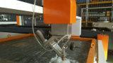Machine de découpage de chanfrein de jet d'eau de commande numérique par ordinateur de 5 axes