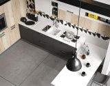 Gabinete de cozinha elevado moderno do lustro do estilo branco de Austrália da laca