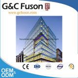 Mur rideau en verre des prix bon marché de mur rideau d'usine/bâti en aluminium visible/prix en verre de mur rideau