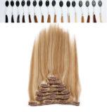 Grampo grosso extraído dobro das extremidades do cabelo na extensão do cabelo