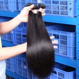 Da extensão peruana do cabelo de 100 pacotes do cabelo humano onda reta de seda natural (QB-PVRH-ST)