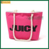 Opnieuw te gebruiken Polyester Dame Shopping Tote Bags (tp-TB162)