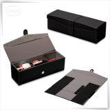 Складывая коробка вина хранения PU кожаный для подарка