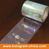 Folha de carimbo quente do holograma transparente da segurança do laser 3D