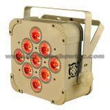 PARIDADE sem fio 9X10W RGBWA 5 in-1 do diodo emissor de luz da bateria