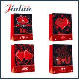 Las ventas al por mayor baratas del diseño del día de fiesta de la tarjeta del día de San Valentín modifican la bolsa de papel para requisitos particulares impresa 4c