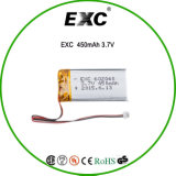 602040 450mAh 3.7V Litio Ion celulares