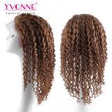 Perruque indienne de lacet de cheveux humains de la couleur 4/27 de mélange pleine